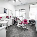 eDental Emergency Clinic at Rivervale. It has tables, dental chair, monitor screen that shows its logo and other tools to be used for dental procedures.