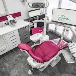 Top view of a quality dental clinic in Rivervale with chairs, tables, computer, monitor screens and other tools to be used for dental procedures at eDental Perth.