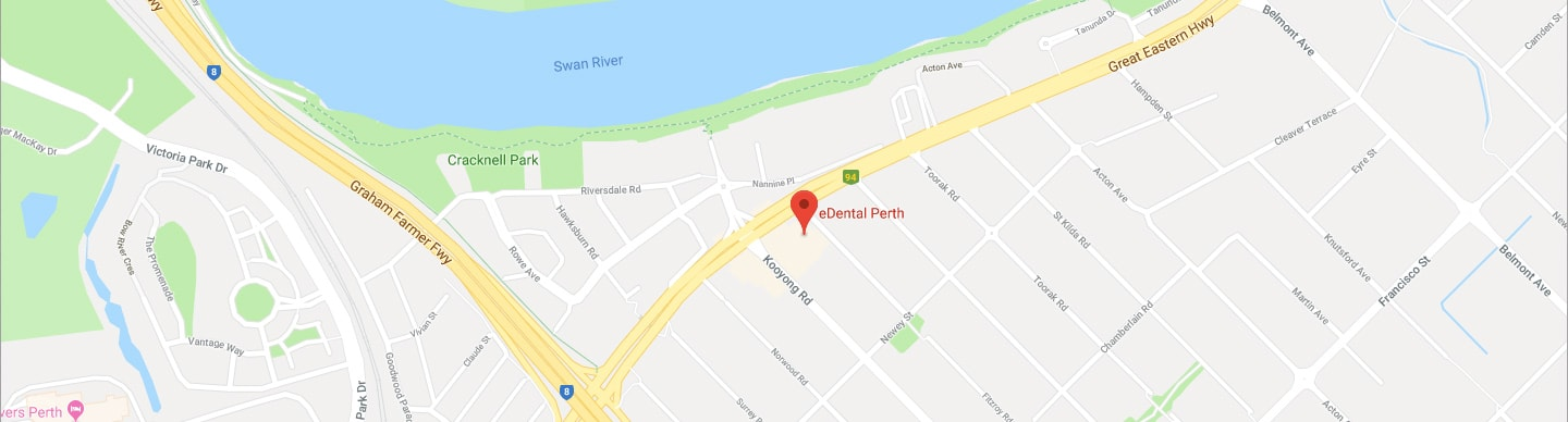 Landscape map-view of eDental Perth which have a great services of dentist Perth.